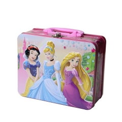wholesale custom printed kids tin lunch box with plastic handle