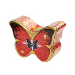 Butterfly shape wedding candy chocolate packaging tin boxes gift tin box