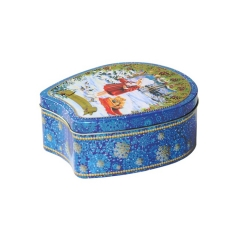 Hot selling exquisite airtight cookie tin box packaging gift box for cookies