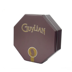 octagon shape metal chocolate packaging gift tin box