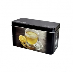 Rectangle metal scented tea bag packaging tin box