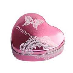Custom printed heart shape wedding chocolate metal tin box