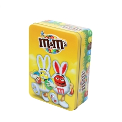 Custom Cartoon Printing Food Grade Empty Packaging Box Rectangular Embossing Biscuit Candy Storage Box