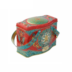 Graceful wholesale cookie tins cookie box tin gift box with handle