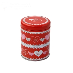 2019 promotion round candle tin box