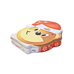 Lovely cartoon shape custom metal cookie tin box packaging
