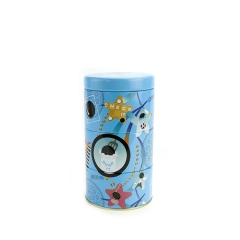 China factory painting printing metal empty round tin box