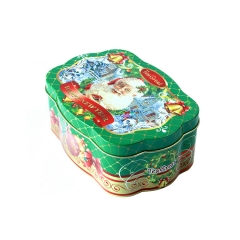 Customized design Christmas chocolate candy packaging tin kids gift box
