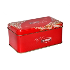 Food grade rectangular packaging tins for butter cookies promotional cookie tin box