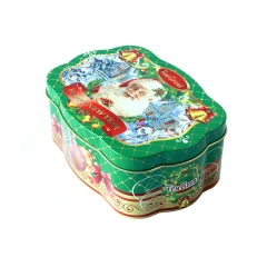 Stylish decorative christmas cookie tin containers