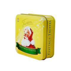 Custom printed square packaging tin box small gift box chocolate tin cans