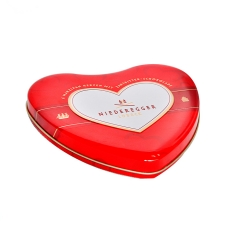 Customized portable heart shape metal gift tin box for chocolate packaging
