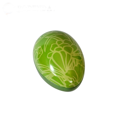 high quality eggshell shaped metal candy tin box container