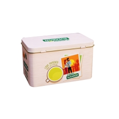 Food grade square Empty Metal Tea tin box