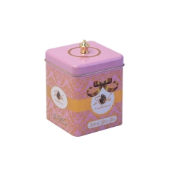 High quality cheap square tea tin containers