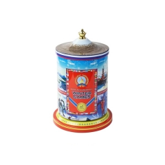 Delicate christmas music box cookie tin box wholesale